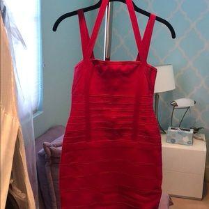 Marciano Raspberry body con dress